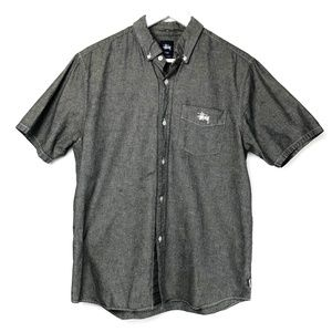 Stussy Gray Short Sleeve Button Up